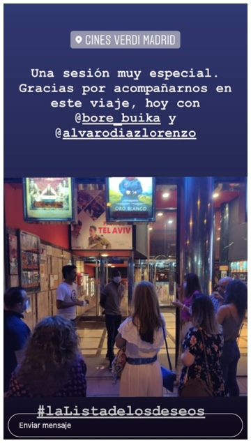 post 3 en instagram stories de la pelicula la lista de los deseos